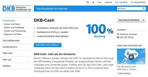 kostenloses DKB Cash eröffnen