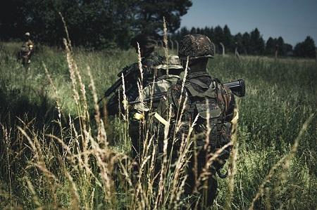 Bundeswehrsoldaten bei einer Truppenübung