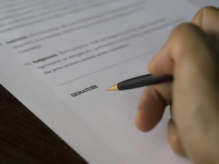 Unterzeichnung einer selbstschuldnerischen Bürgschaft