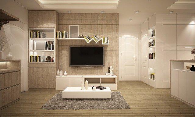 Schönes, modernes Wohnzimmer: Wenn Sie Ihr Eigenheim verschönern möchten, dann schauen Sie sich doch mal den günstigen und bonitätsunabhängigen DSL Bank Modernisierungskredit genauer an!