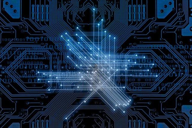 Abstraktes Bild für Binärsystem, Vernetzung und Digitalisierung: Dank intelligenter Technologien sind heute volldigitale Kreditabschlüsse möglich!